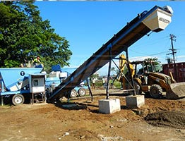 Mobile Concrete Batching Plant in Rwanda
